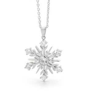 Sterling Silver Large Snowflake Pendant -30/001