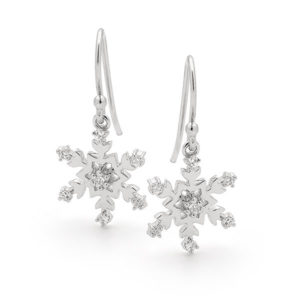 Sterling Silver Snowflake Earrings -017