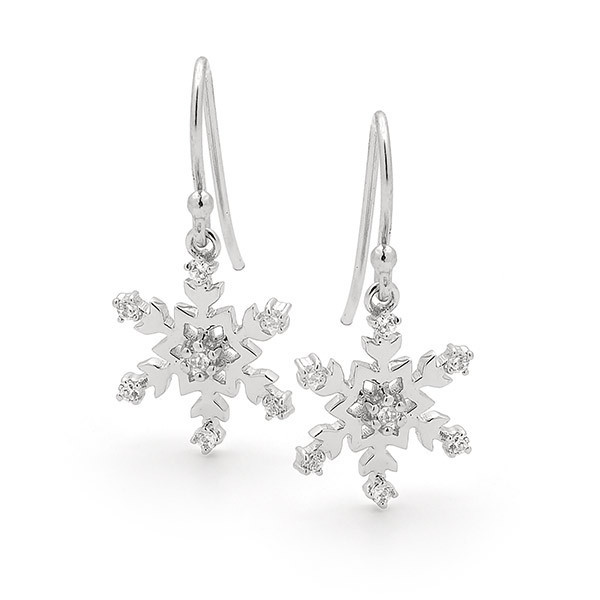 Snowflake Necklace & Earring Set