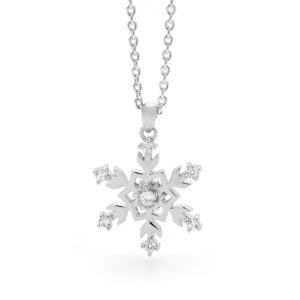 Sterling Silver Medium Snowflake Pendant-23/006