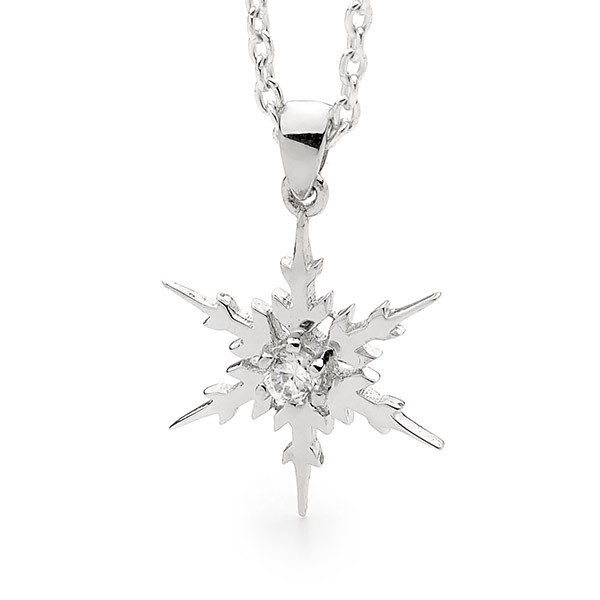 Sterling Silver Delicate Snowflake Necklace