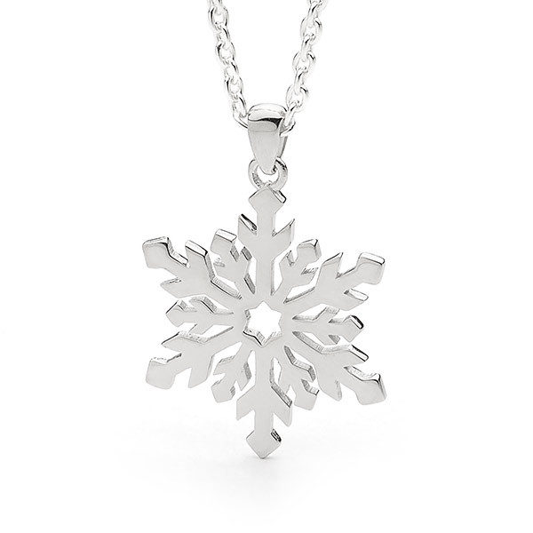 Sterling Silver Medium Snowflake Pendant -23/004