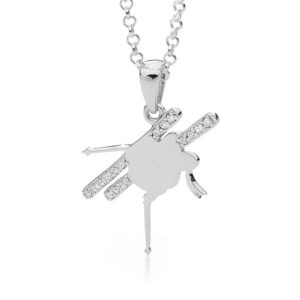 Freestyle Skier Pendant Necklace - Female