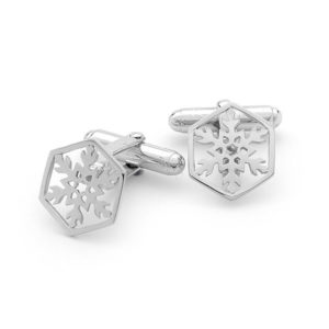 Mens Snowflake Cufflinks