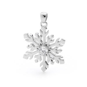 Classic Beauty Snowflake Necklace Pendant