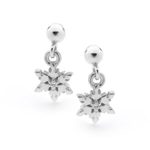 Snowflake Ball Stud Earrings