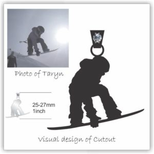 Snowboarder Necklace for Taryn