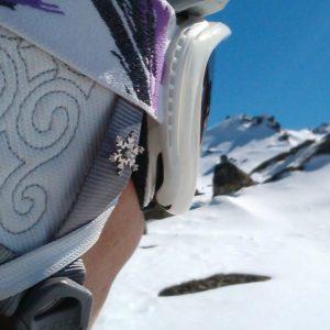 Snow Goddess Helmet Snowflake Pin