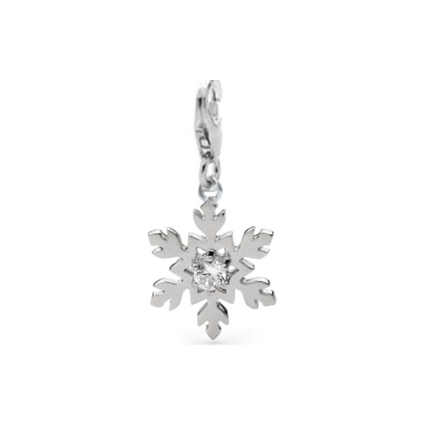 Sterling Silver Snowflake Charm - 007
