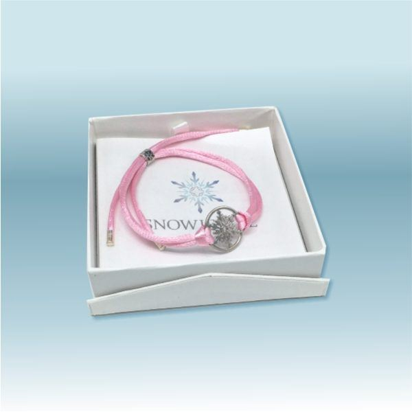Snowflake Bracelet with Leather and Heart Charm 1