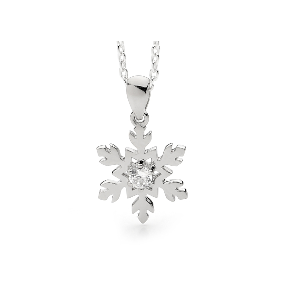 Snowflake Necklace in 9ct Gold and Diamond 1