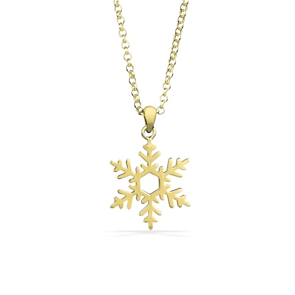 Snowflake Necklace in Sterling Silver 2