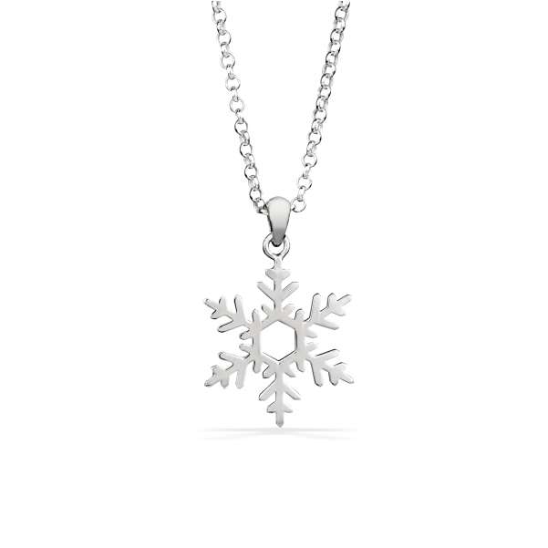 Snowflake Necklace in Sterling Silver 1