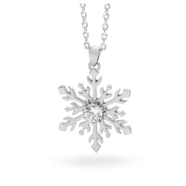 Snowflake Necklace in 9ct Yellow or White Gold 2