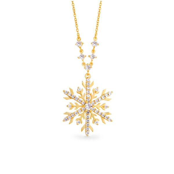 Snowflake Necklace with Blue Diamonds 4