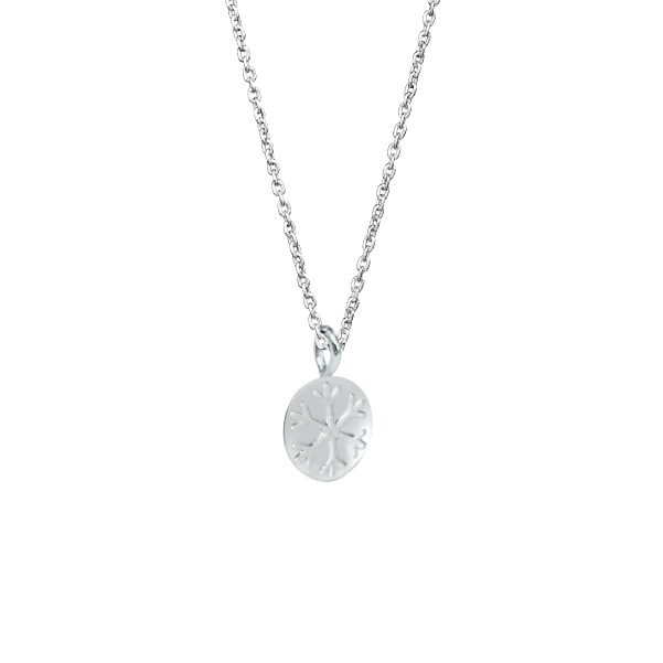 Snowflake Necklace with Silver Snow Bead Pendant 3