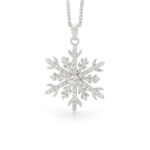 Snowflake Necklace in 18ct White Gold and Diamonds