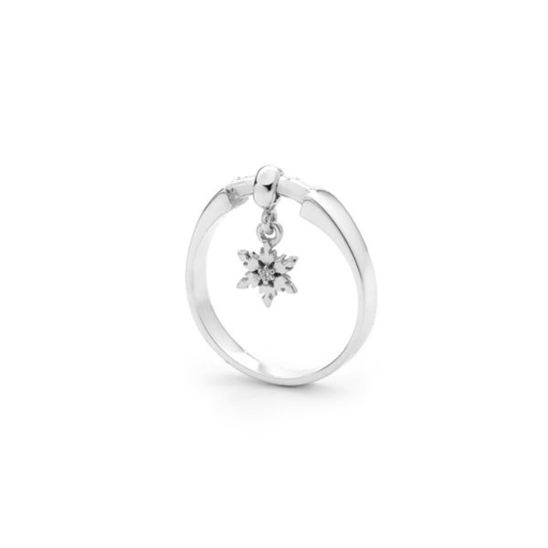 Snowflake Ring with Diamond Dusting 1
