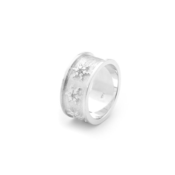 Snowflake Ring in Sterling Silver 1