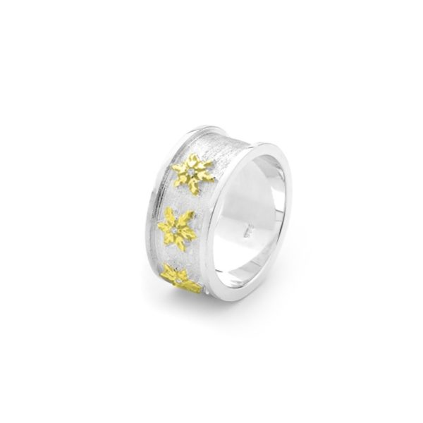 Snowflake Ring in Sterling Silver 2