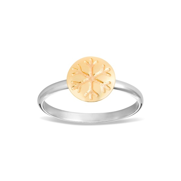 Snowflake Ring with 9ct Gold Disc 1