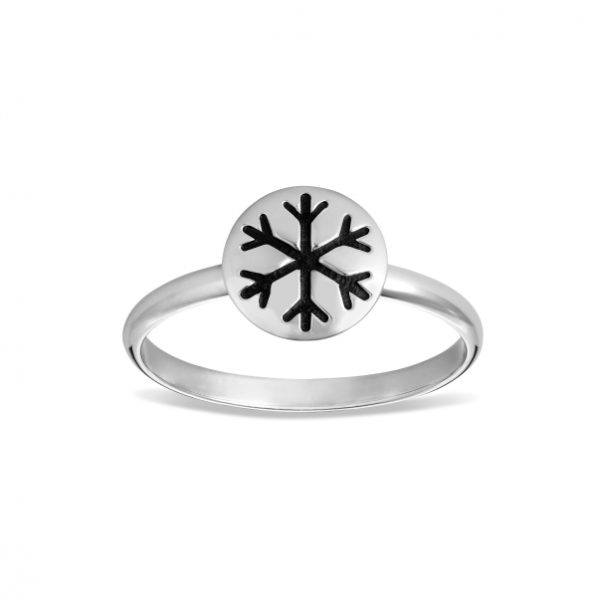 Snowflake Ring with Enamel Accent 1