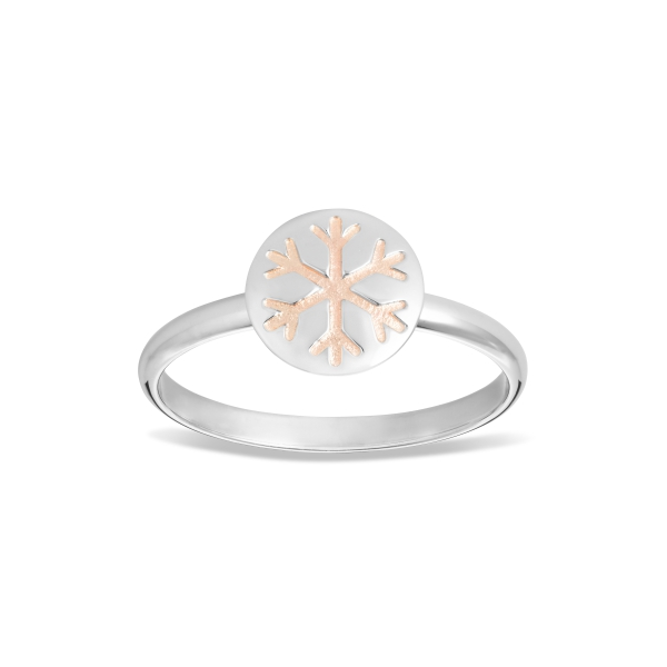 Snowflake Ring with Enamel Accent 4