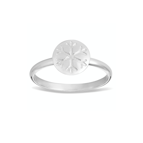 Snowflake Ring with 9ct Gold Disc 3