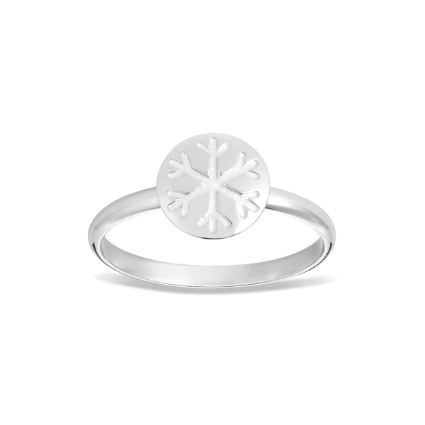 Snowflake Ring with Enamel Accent 3
