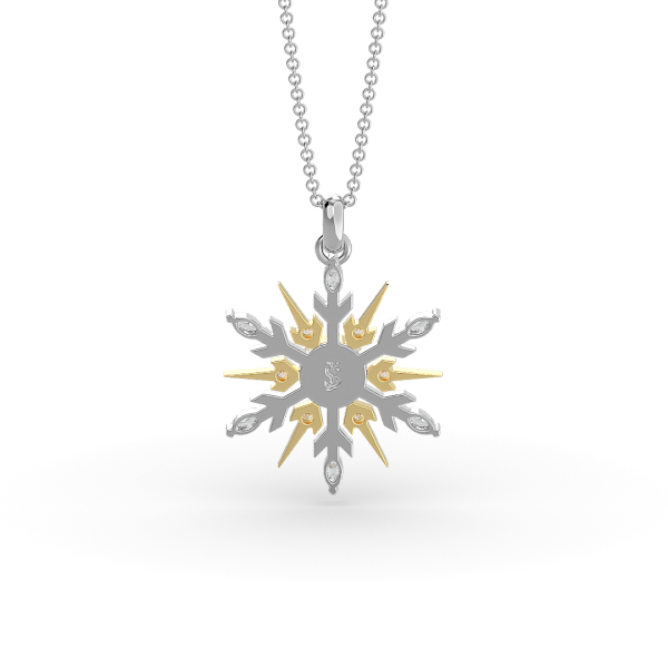 SnowJewel Necklace in White Gold