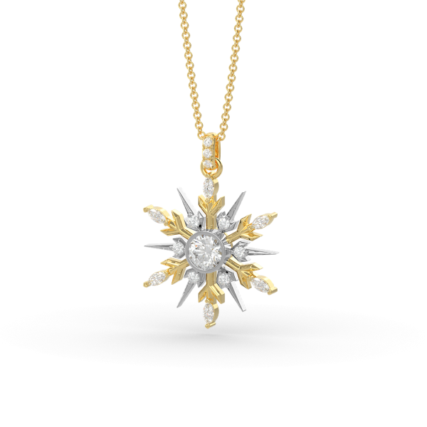 SnowJewel Necklace in Yellow Gold
